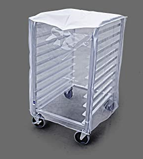 New Star FoodService 36534 Plastic 10-Tier Commercial Kitchen Bun Pan Rack Cover, 28 by 60cm by 80cm