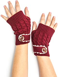 Bohomonde, Tawny Cable Knit Boho Mori Style Armwarmers/Fingerless Gloves with Crochet Lace