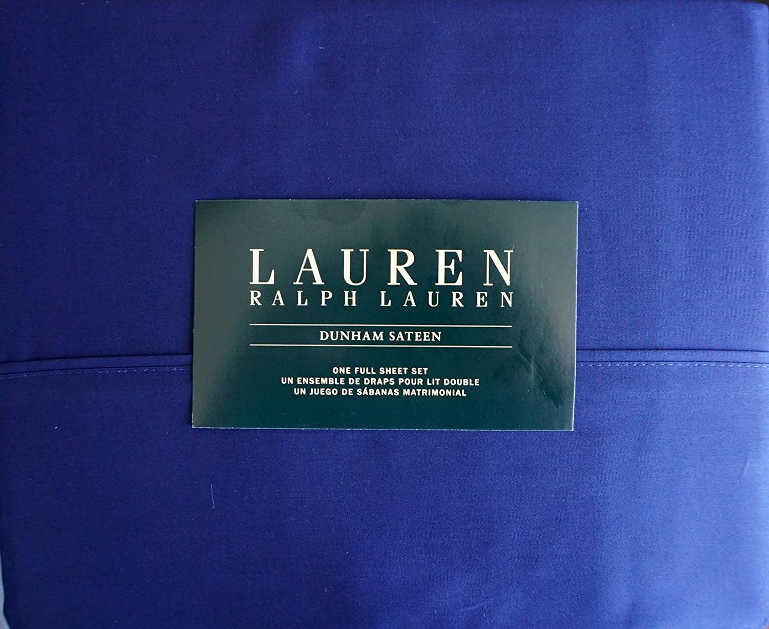 Lauren Ralph Lauren 4 Piece Full Sheet Set Dunham Sateen Cadet bluee