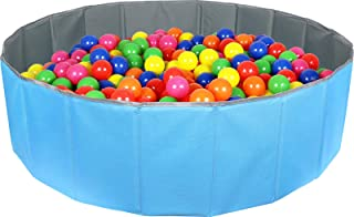 Click N' Play Kids Ball Pit Foldable Play Ball Pool with Storage Bag. Blue (Balls Not Included)