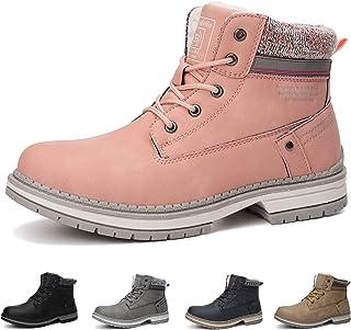 Botas Mujer Botines Zapatos Invierno Botas de Nieve Cálido Fur Forro Aire Libre Boots Urbano Fiesta Oficina Caminando Senderismo 36-41(41 EU,Rosa)