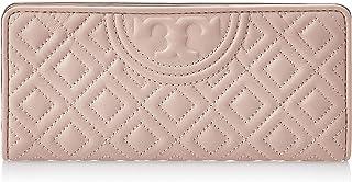 Tory Burch Women's Gemini Link Canvas Zip Continental Fleming Slim Fashion, Color Pink
