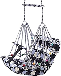 HELLY FASHION Cotton Swing for Kids Baby's Children Folding and Washable 1-10 Years with Safety Belt - Home,Garden Jhula f...