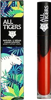 Labial Líquido Mate Vegano y Natural - Larga Duración - Color : Rojo AnaranjadoShake the Ground 886 - Pintalabios Sin De...