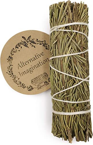 Alternative Imagination Rosemary Incense Wand for Aromatherapy, Cleansing, Meditation, Yoga, and Smudging. Pack of 1.