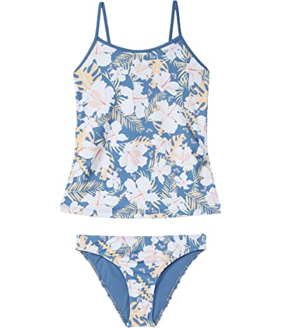 Roxy Kids Swim Lovers Tankini Swimsuit (Toddler/Little Kids/Big Kids) (Moonlight Blue Team Garden) Girl