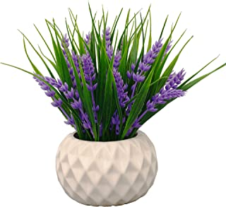 VGIA Modern Artificial Potted Plant for Home Decor...