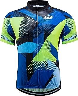 voofly Men's Cycling Jersey Set Men Short Sleeve Compression Bike Shorts Gel Padded Biking Clothing