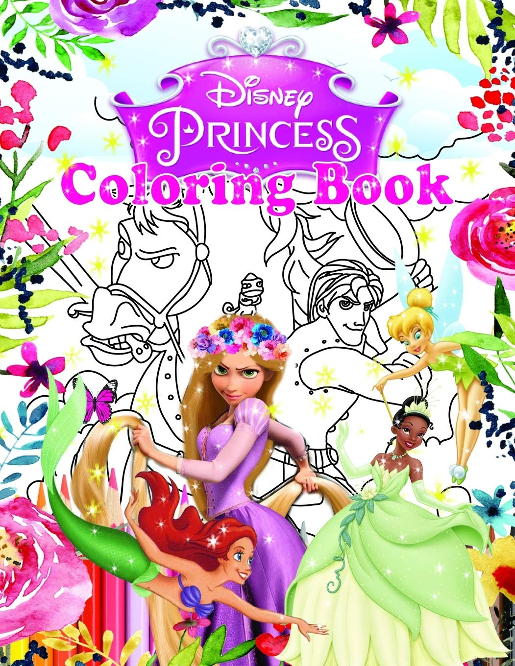 - Disney Princesses Coloring Book: Jumbo Coloring Book With High