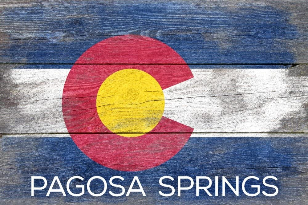 Ranking TOP8 specialty shop Pagosa Springs Colorado - Rustic Giclee Flag State Galle 36x54
