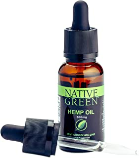 Native Green (Mint 500mg) Hemp Oil for Pain Relief, Anxiety, Better Sleep, Insomnia, Skin Health, Depression & Stress Relief, Organically Grown and Made in The USA