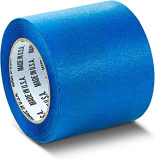 Wide Blue Painters Tape, 4 inch x 60 Yards, 3D Printing Tape, Easy Clean Removal up to 21 Days, Masking Tape