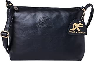 Speed X Fashion Girls' Sling Bag (SBMY-Sling_Black)