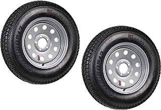 eCustomRim 2-Pk Radial Trailer Tire On Rim ST175/80R13 13 in. Load C 5 Lug Silver Modular
