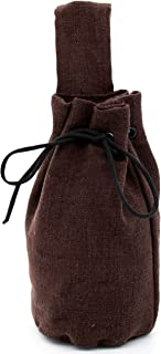Mythrojan Pouch In Suede leather Drawstring Belt Pouch Bag Renaissance Larp