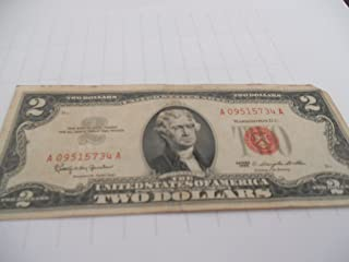1953-A Red Letter 2 Dollar Bill