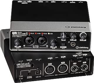 Steinberg UR22 mkII 2.0 channels USB - Tarjeta de sonido (2.0 canales, 24 bit, USB, Windows 10, Mac OS X 10.10 Yosemite,Mac OS X 10.11 El Capitan,Mac OS X 10.7 Lion,Mac OS X 10.8 Mountain