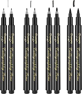 Vegena Stylo Calligraphie, 8 Pièces Stylos Pinceau Calligraphie, Feutre Calligraphie, Ensemble de Styloplume Calligraphie ...