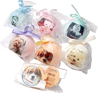 SPA PURE ADOPT-A-PUPPY: BATH BOMBS for kids with 6 ADORABLE XL bath bombs with surprise puppy inside, USA Made, Handmade, Natural Bath Bombs, Birthday Gift idea for Kids, Spa Parties