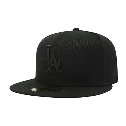 ... france new era 59fifty hat mlb basic los angeles dodgers la black  fitted cap a3e1c bae95 2e741eb37ddb