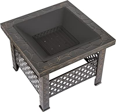 Amazon Com Pleasant Hearth Bradford Square Natural Slate