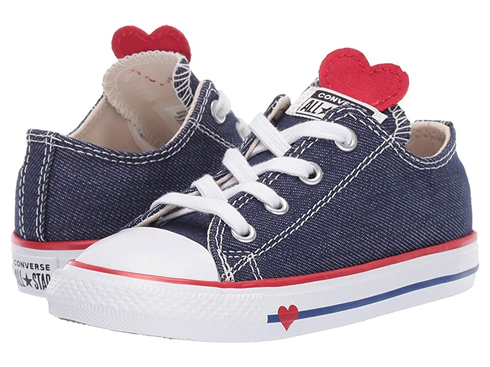 d11b77f0fe6b Converse Kids Chuck Taylor All Star Denim Love Ox (Infant Toddler) (Navy