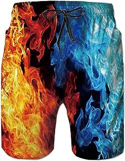b1e30d5f992cf2 Loveternal Uomo Costume da Bagno Quick Dry Pantaloncini da Spiaggia  Stampato Swim Trunks
