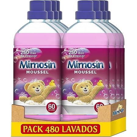 Mimosin Suavizante Concentrado Moussel 60 lavados, Paquete de 8