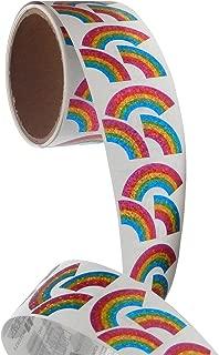 Bulk Roll Prismatic Stickers, Mini Rainbows (100 Repeats)