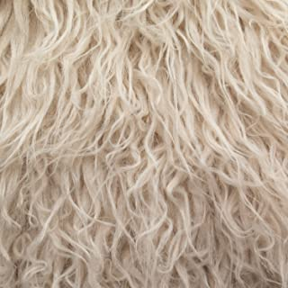 Fake Faux Fur Curly Alpaca 58 Inch Wide Fabric by the Yard (F.E. (Latte)