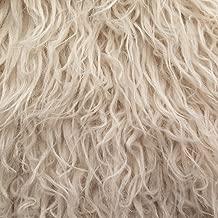 Fake Faux Fur Curly Alpaca 58 Inch Wide Fabric by the Yard (F.E. (Latte)