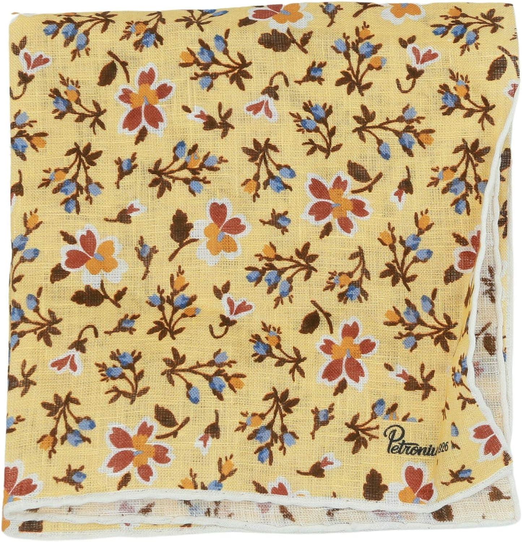 Petronius 1926 Men's Floral Pocket Square