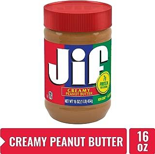 Jif Creamy Peanut Butter – 7g (7% DV) of Protein per Serving, Smooth, Creamy Texture – No Stir Peanut Butter, 16 Oz