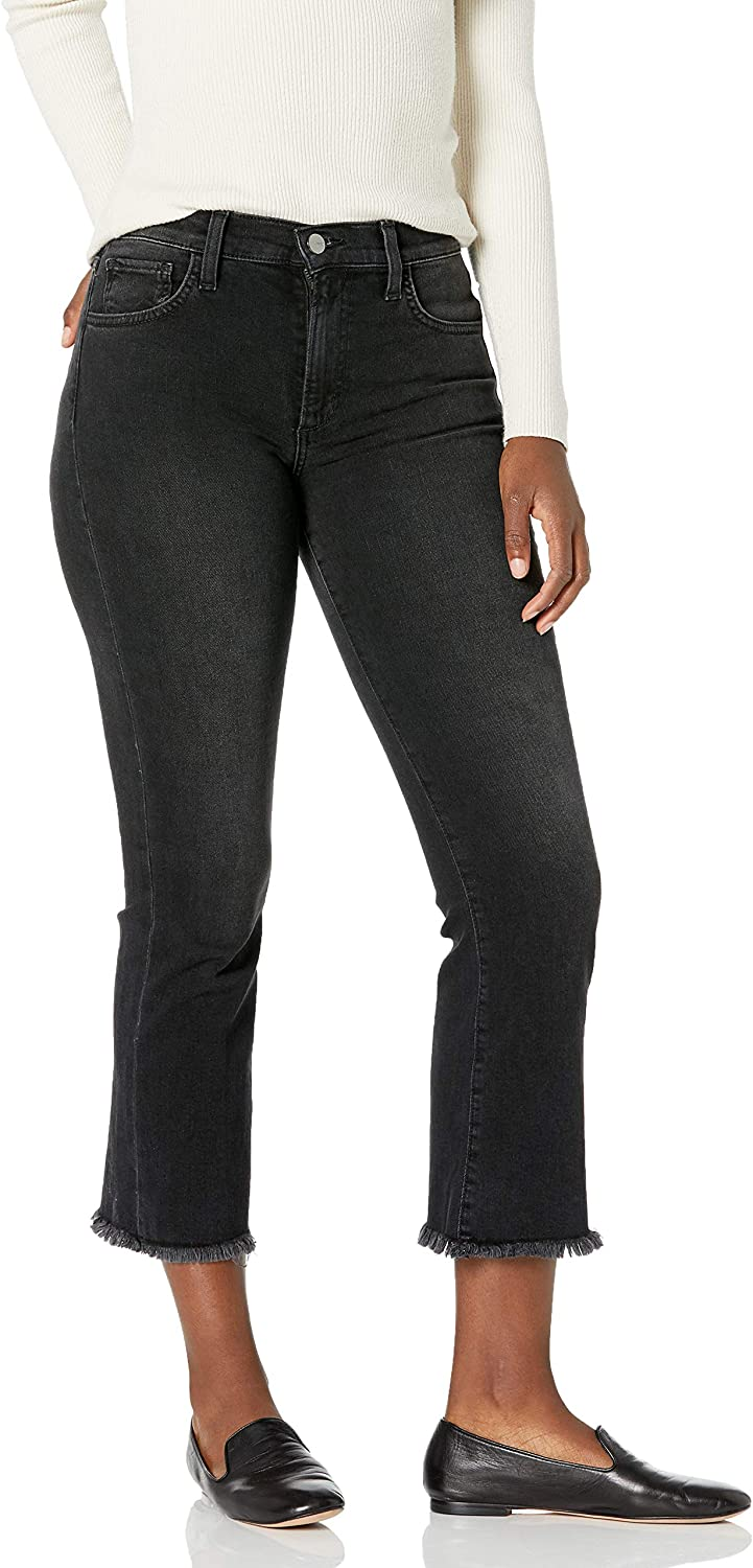 Joes Jeans Womens Callie Cropped Bootcut Jeans with Frayed Hem