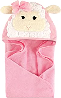 Hudson Baby Unisex Baby Animal Face Hooded Towel, Little Lamb 1-Pack, One Size