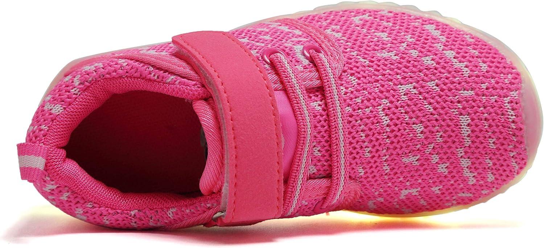 adituob Gar?on Fille LED Chaussure Loisirs Chaussures de sport Chaussures de course USB Lien Charge