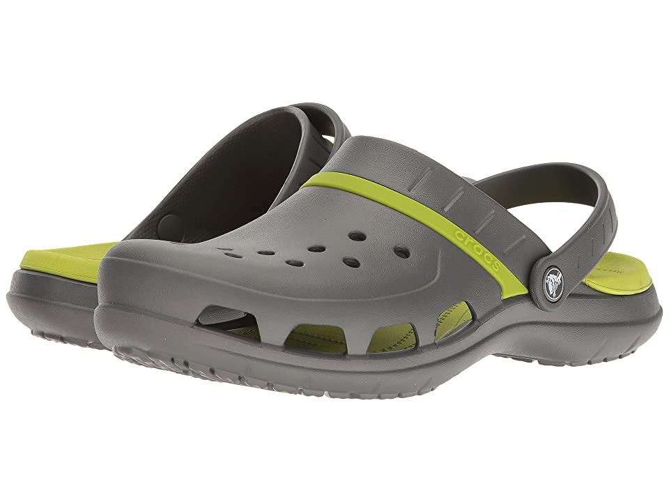 Crocs Modi Sport Clog (Graphite/Volt Green) Sandals, Gray