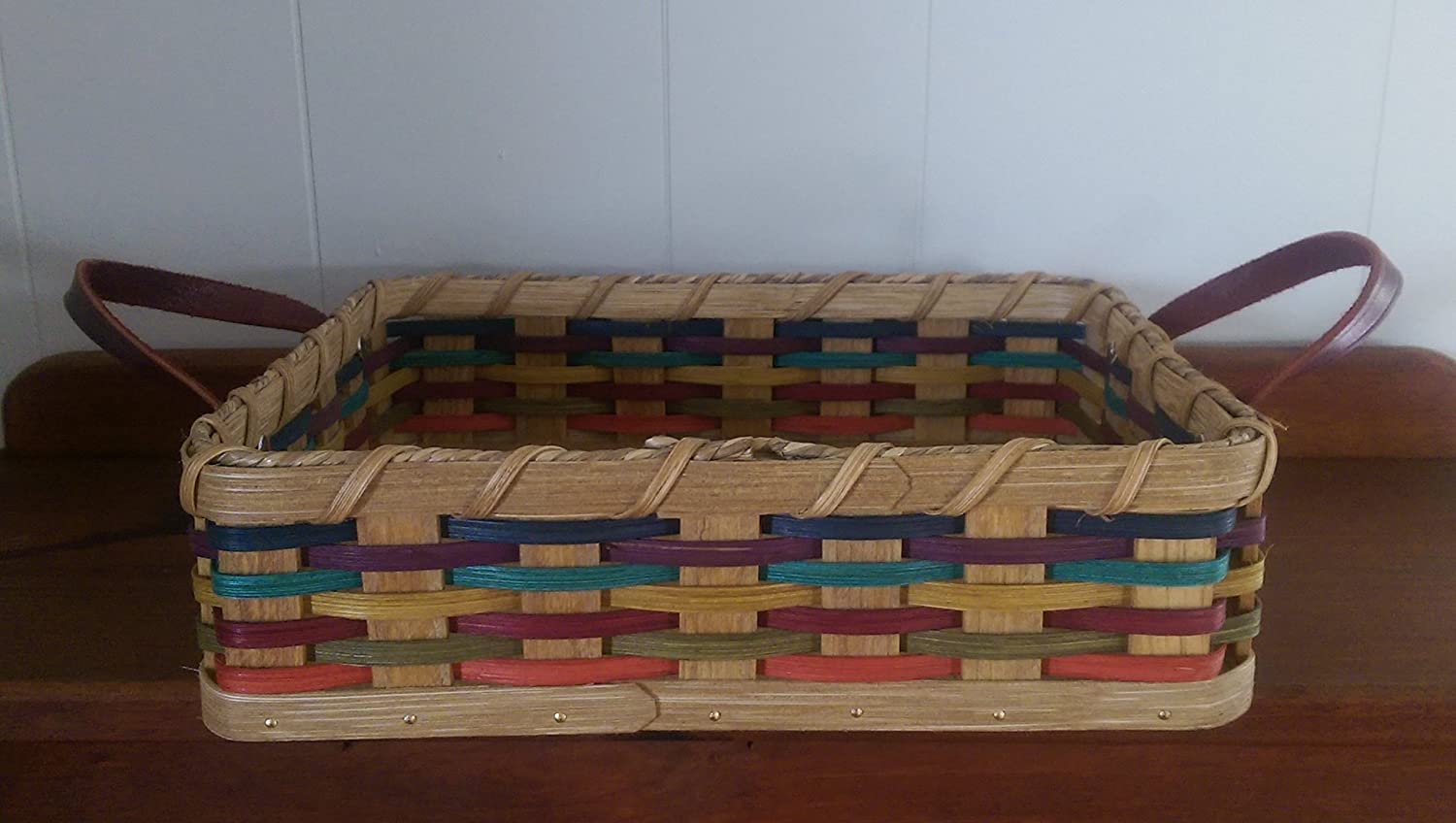 Fresno Mall Authentic Amish Handmade Signed Square with Casserole Lea Basket Super sale period limited