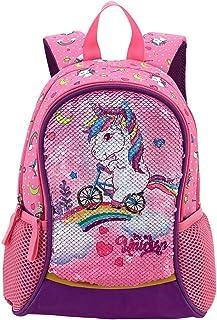 HAPPYSUNNY Toddler Backpack Reversible Sequin 13 Inch Lightweight for Preschool and Kindergarten...
