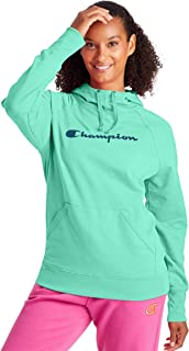 Champion Women's Hoodie, Light Sea Green, Large
