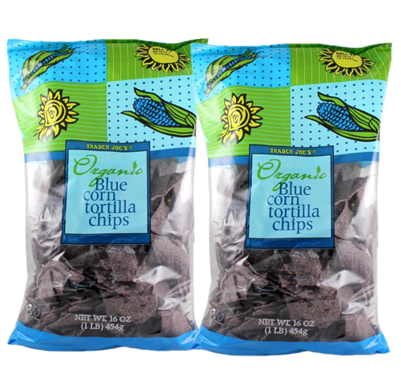 Trader Joe's Organic Gluten-Free Blue Corn 2 Pc Fees free!! Max 85% OFF Tortilla Chips -