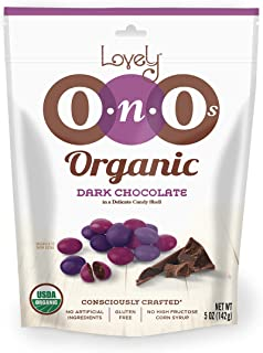 Organic Dark Chocolate Gem OnO's - Lovely Candy Co. 5oz Bag - NON-GMO, NO HFCS, Kosher & Gluten-Free   Consciously crafted in the USA!