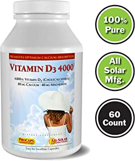 Andrew Lessman Vitamin D3 4000 IU 60 Capsules – High Potency, Essential for Calcium Absorption, Supports Bone Health, Healthy Muscle Function, Immune System and More. Small Easy to Swallow Capsules
