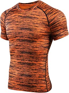 2fed2c68b4d MTSCE Men s Athletic Compression Shirts Quick Dry Short Sleeve Fitness  Running T-Shirts