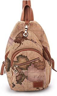 B.ANGEL Stylish Backpack for Women Vintage Style Map Shoulder Bags Travel Casual Daypack