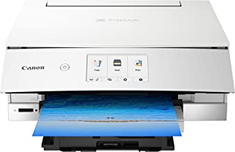 Canon TS8220 Wireless All in One Photo Printer with Scannier and Copier, Mobile Printing, White