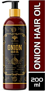 Vanalaya Onion Hair oil with natural oils, Natural herbs and onion extract for men and women 200ml