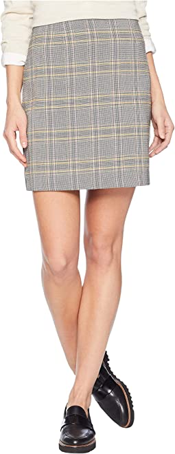 Menswear Plaid Knot Front Mini Skirt