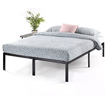 Best Price Mattress 14 Inch Metal Platform Beds w/ Heavy Duty Steel Slat Mattress Foundation (No Box Spring Needed), Black