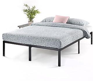 Best Price Mattress 14 Inch Metal Platform Beds w/ Heavy Duty Steel Slat Mattress Foundation (No Box Spring Needed), Black